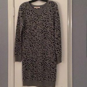 Like new LOFT leopard sweater dress